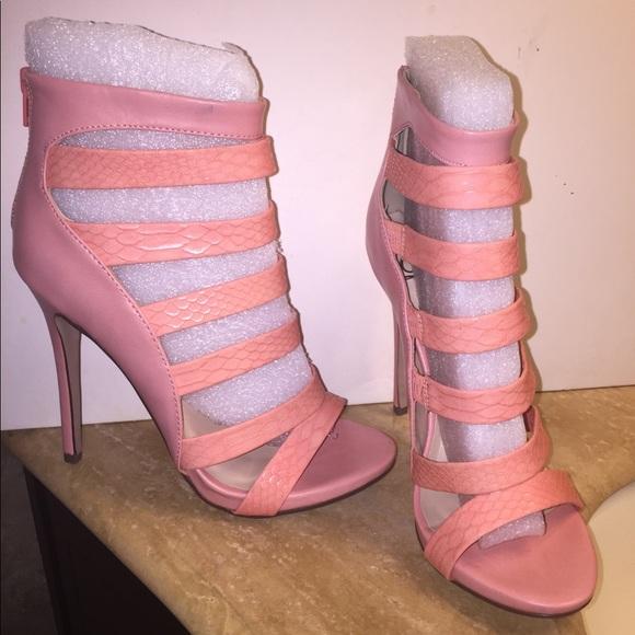 Shoes   Peach Strappy Heels   Poshmark
